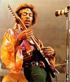 Jimi Hendrix performing at Monterey Pop Festival